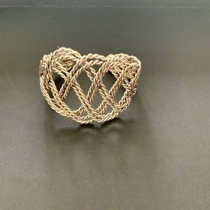 Braided Silver Cuff Bracelet